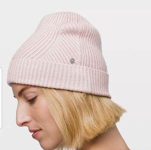 Lululemon Twist of Cozy Knit Beanie Pink NWT